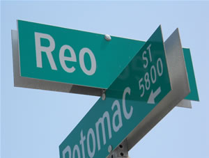 REO street sign
