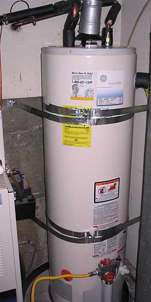a properly strapped water heater